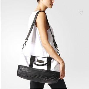 Adidas by Stella McCartney black white gym bag